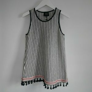 NWT W5 Striped Tank with Tassles